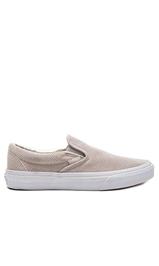 Classic Slip-on Sneaker in Silver Cloud & True White