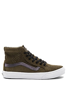 Sk8-Hi Slim Cutout Sneaker in Tarmac & True White
