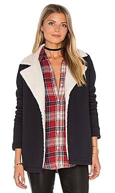 Arie Jacket with Faux Fur Lining in Black