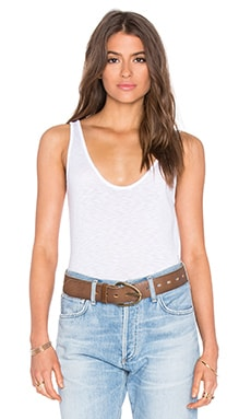 Tila Lux Slub Scoop Neck Tank in White