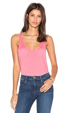 Tila Lux Slub Tank in Flamingo