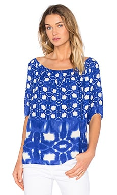 Rista Atlantis Print Top in Blue