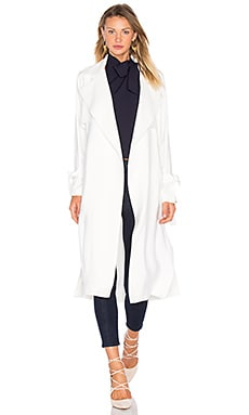 Academy Trench Coat in Ivory