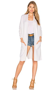 Side Slit Cardigan in Off White