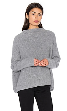 Funnel Neck Sweater in Medium Grey