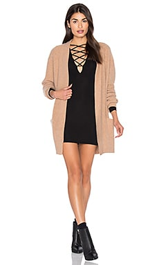 Robe Cardigan in Camel