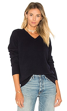 Raglan V Neck Sweater in Coastal