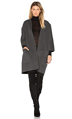 Cardigan Coat in Dark Grey & Medium Grey