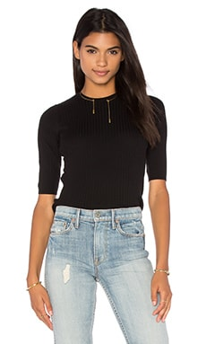 Skinny Rib Sweater in Black