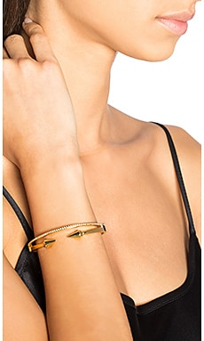Mini Titan & Crystal Band Bracelet in Gold & Clear