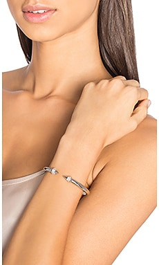 Mini Titan Crystal Bracelet in Silver & Clear