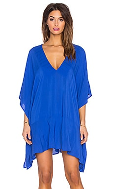 Maud Caftan in Solid Blue