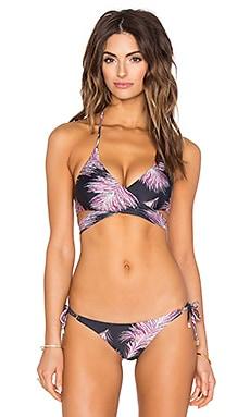 Middle Loop Bikini Top in Krishna Black