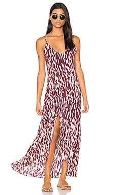Bali Elma Long Dress in Burgundy