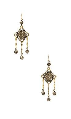The Lola Earrings in Brass