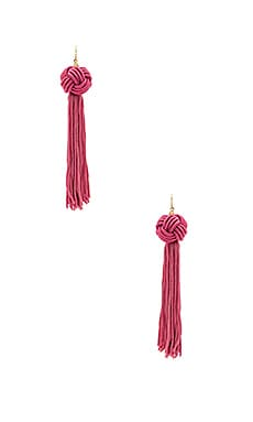 Astrid Knotted Tassel Earring in Pink