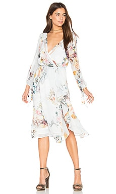 Primrose Split Sleeve Midi Dress in Posie