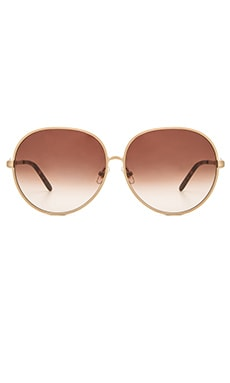 Fleur Sunglasses in Antique Godl & Brown Gradient