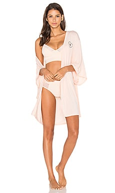 Intimates Logo Robe in Peachy Keen