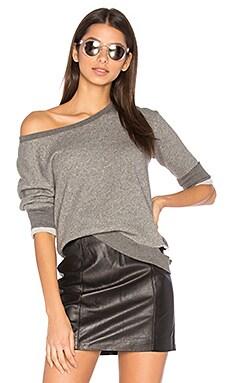 Torn Shrunken Sweatshirt in Charcoal Heather