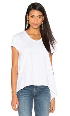 Slub Shrunken Boyfriend Tee in White