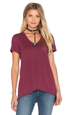 Slub Shrunken Boyfriend Tee in Raspberry