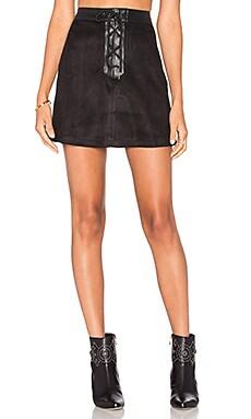 West Coast Skirt in Black Suede