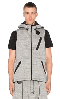 Digital Hooded Vest in CC Grey