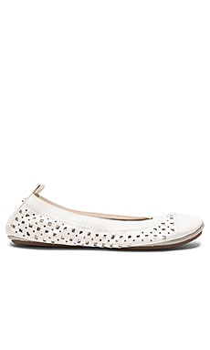 Samantha Flat in White & Pure Gold