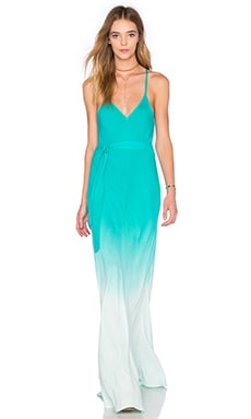 Carla Maxi Dress in Turquoise Ombre