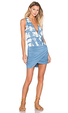 Stacey Mini Dress in Chambray Acid Drip Wash