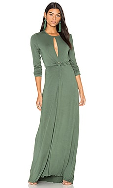 Mariel Dress in Hunter Green