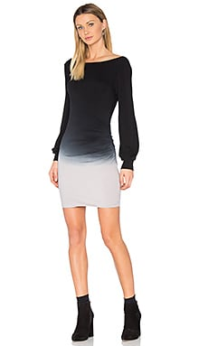 Landon Dress in Black grey Ombre