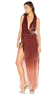 Juliete Velvet Dress in Mocha Ombre