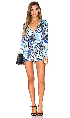 Work It Romper in Retro Bloom Blue