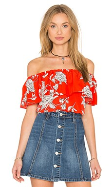Griffin Top in Red Carnation