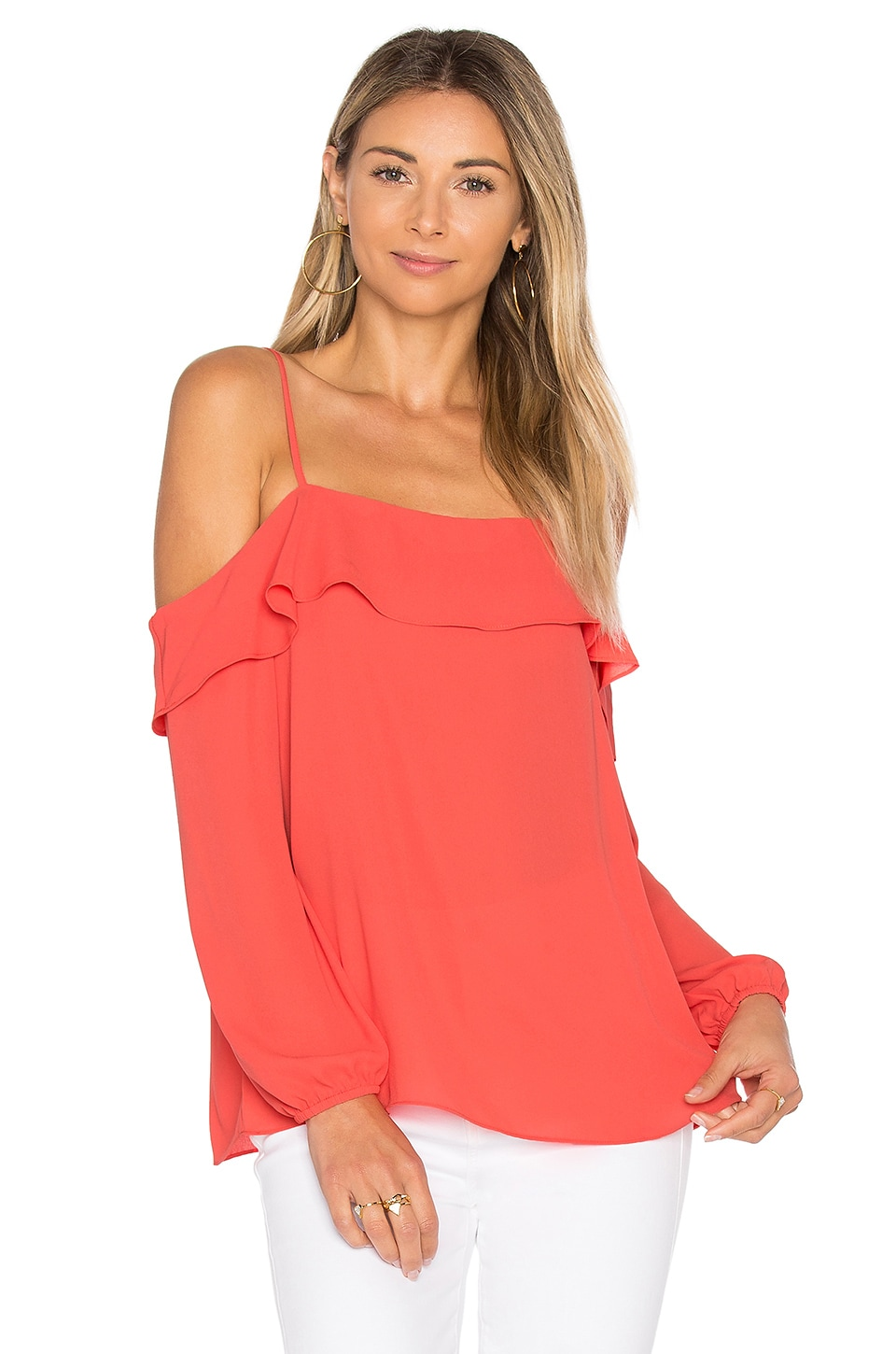Cold Shoulder with Ruffle Top