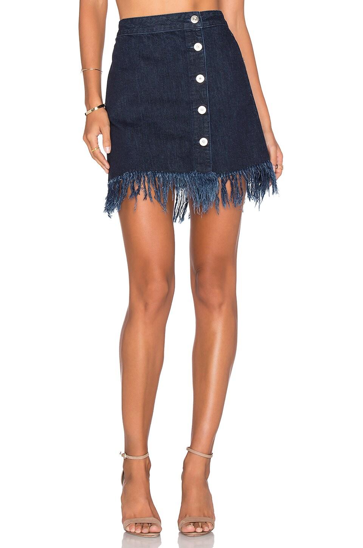 Asymmetrical Fringe Skirt