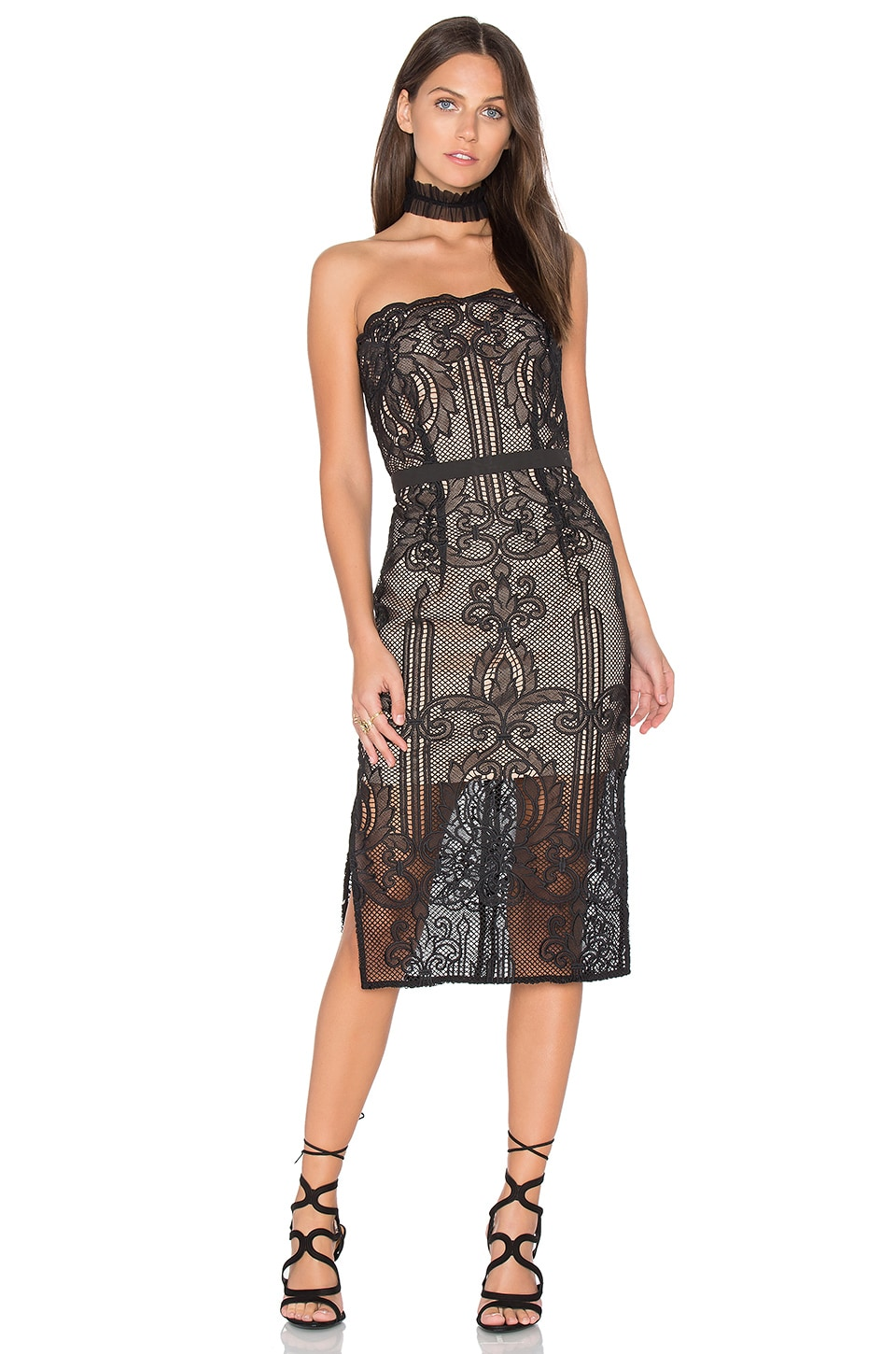Tatiana Embroidered Bustier Dress