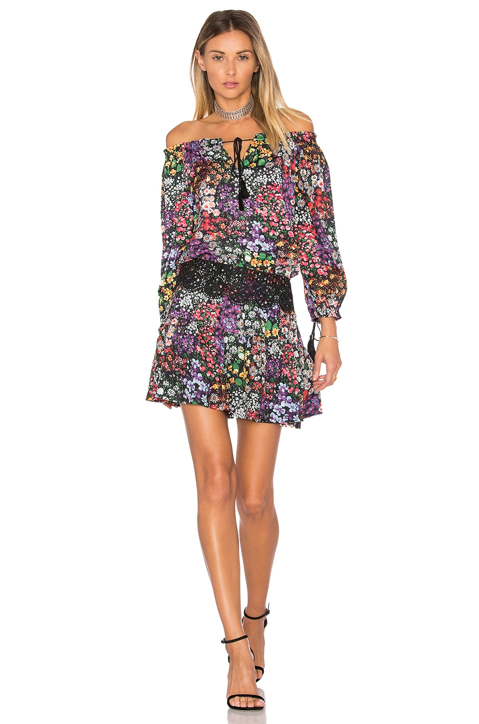 Ethel Printed Off Shoulder Mini Dress