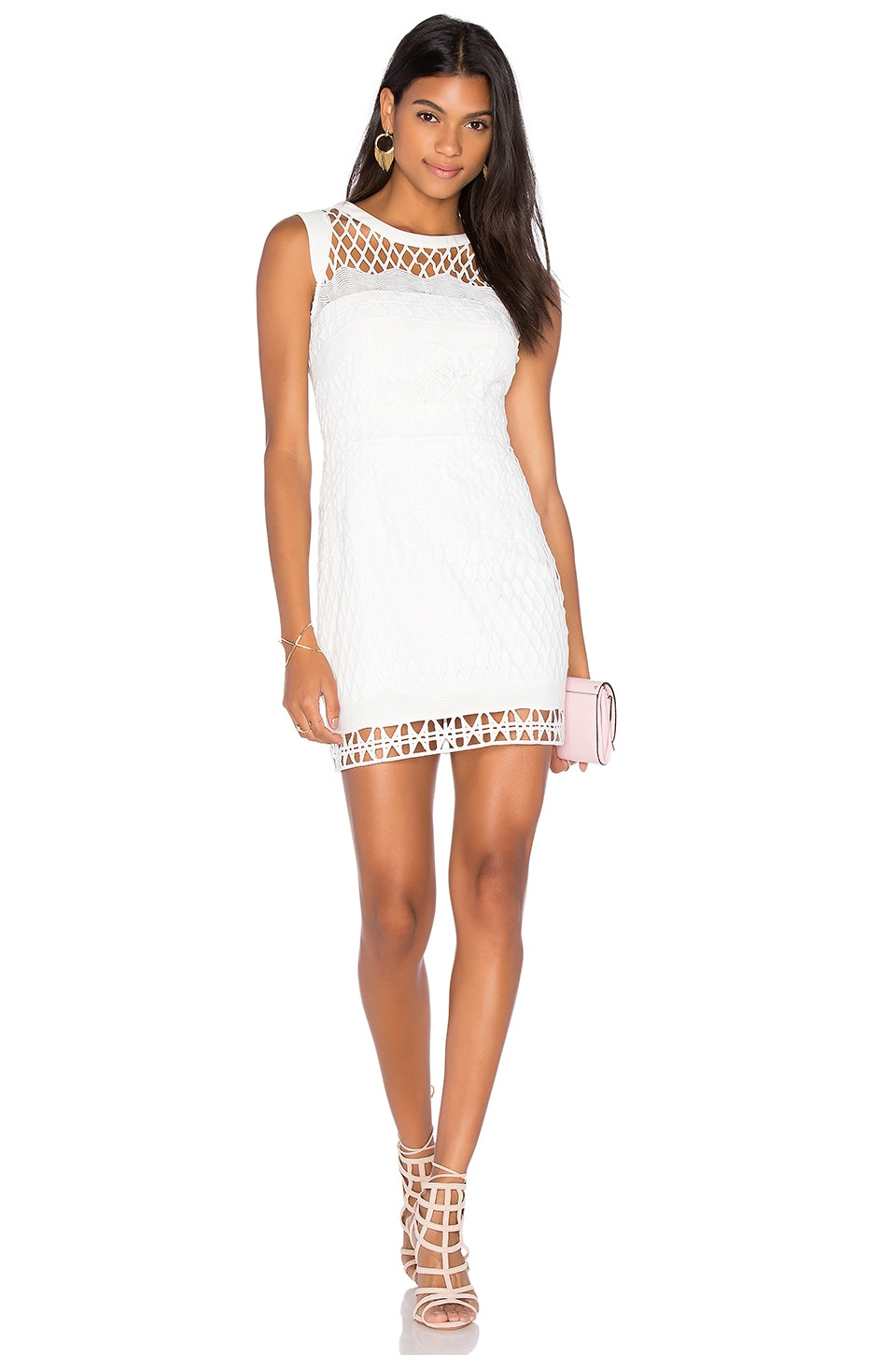 Caroline Embroidered Mini Dress