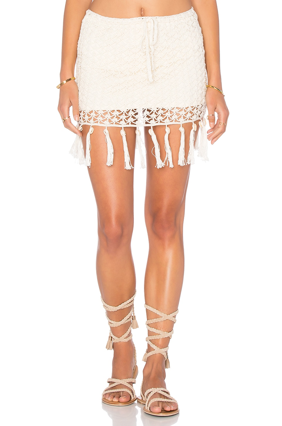 Fringe Shell Skirt