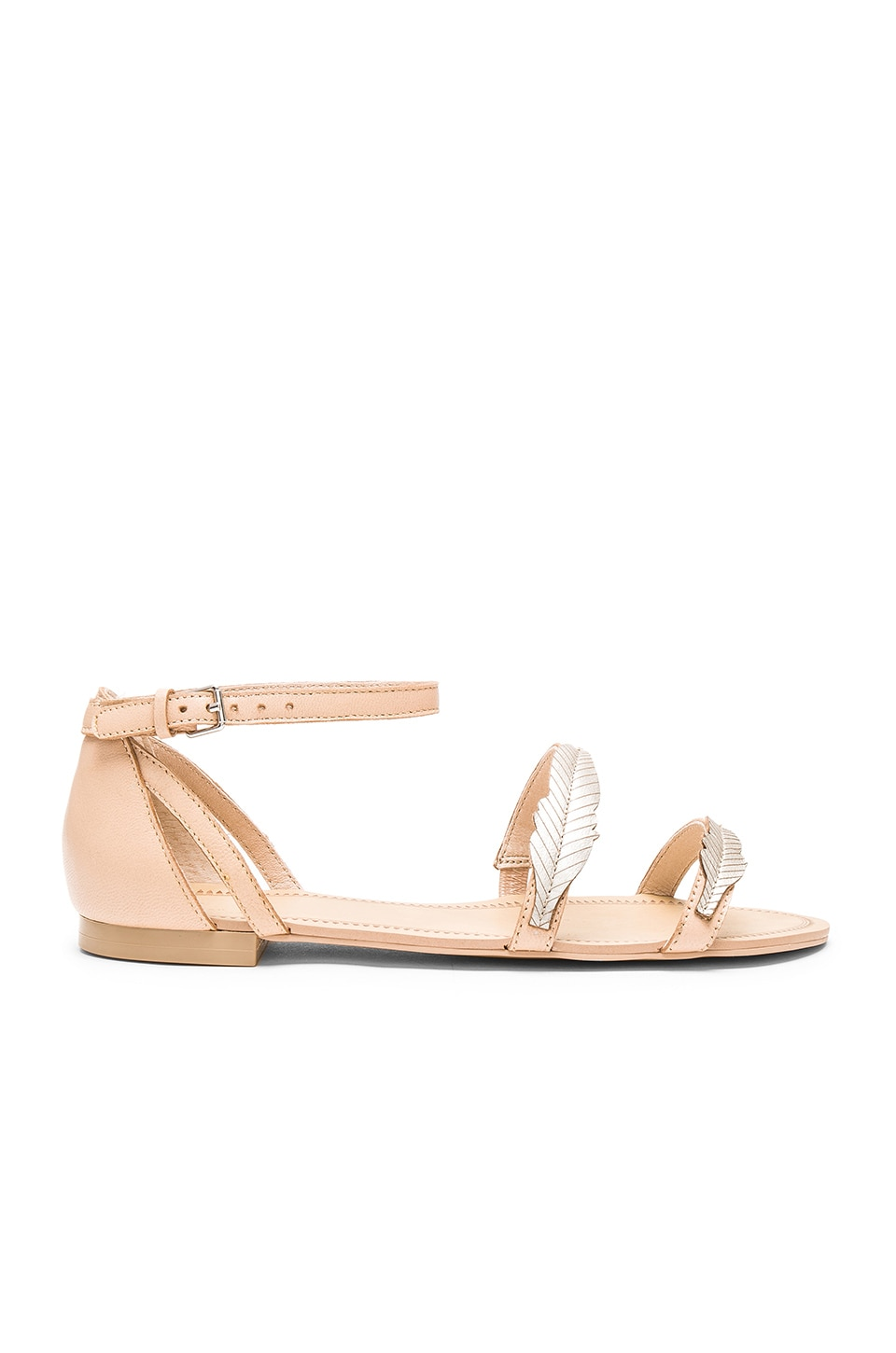 Pressed Leather Feather Sandal