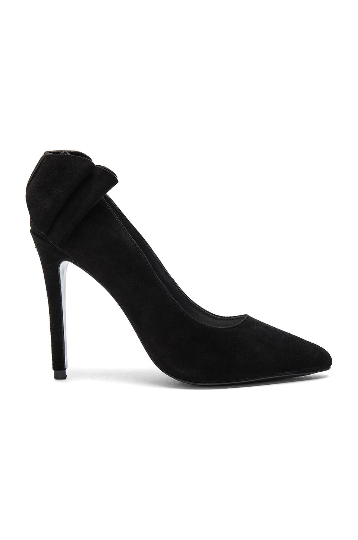 Dayna Suede Bow Back Heel