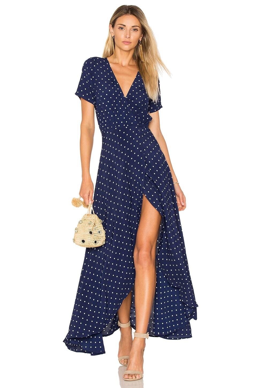Lily Wrap Maxi Dress Classic Polka Dot