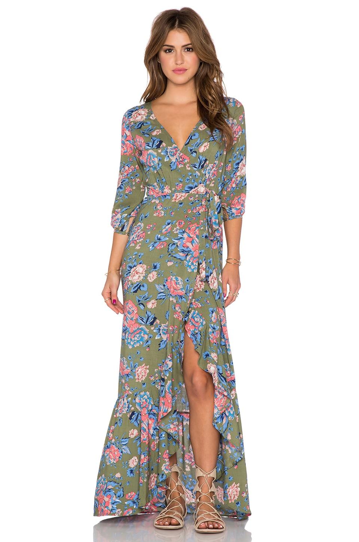 Willow Wrap Maxi Dress
