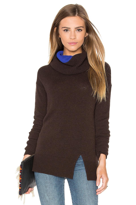 Two Tone Turtleneck Sweater
