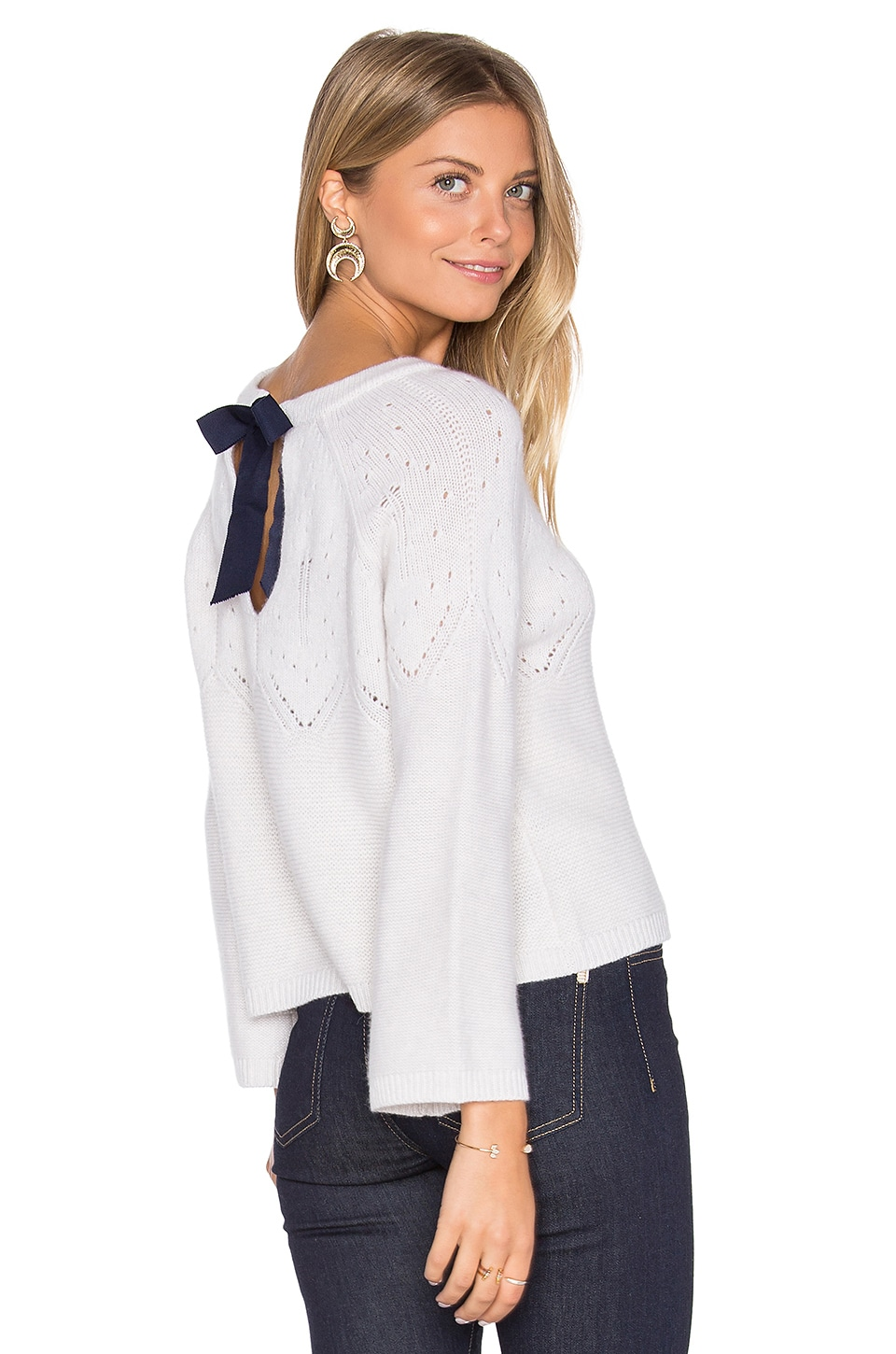 Tie Back Boxy Crop Sweater