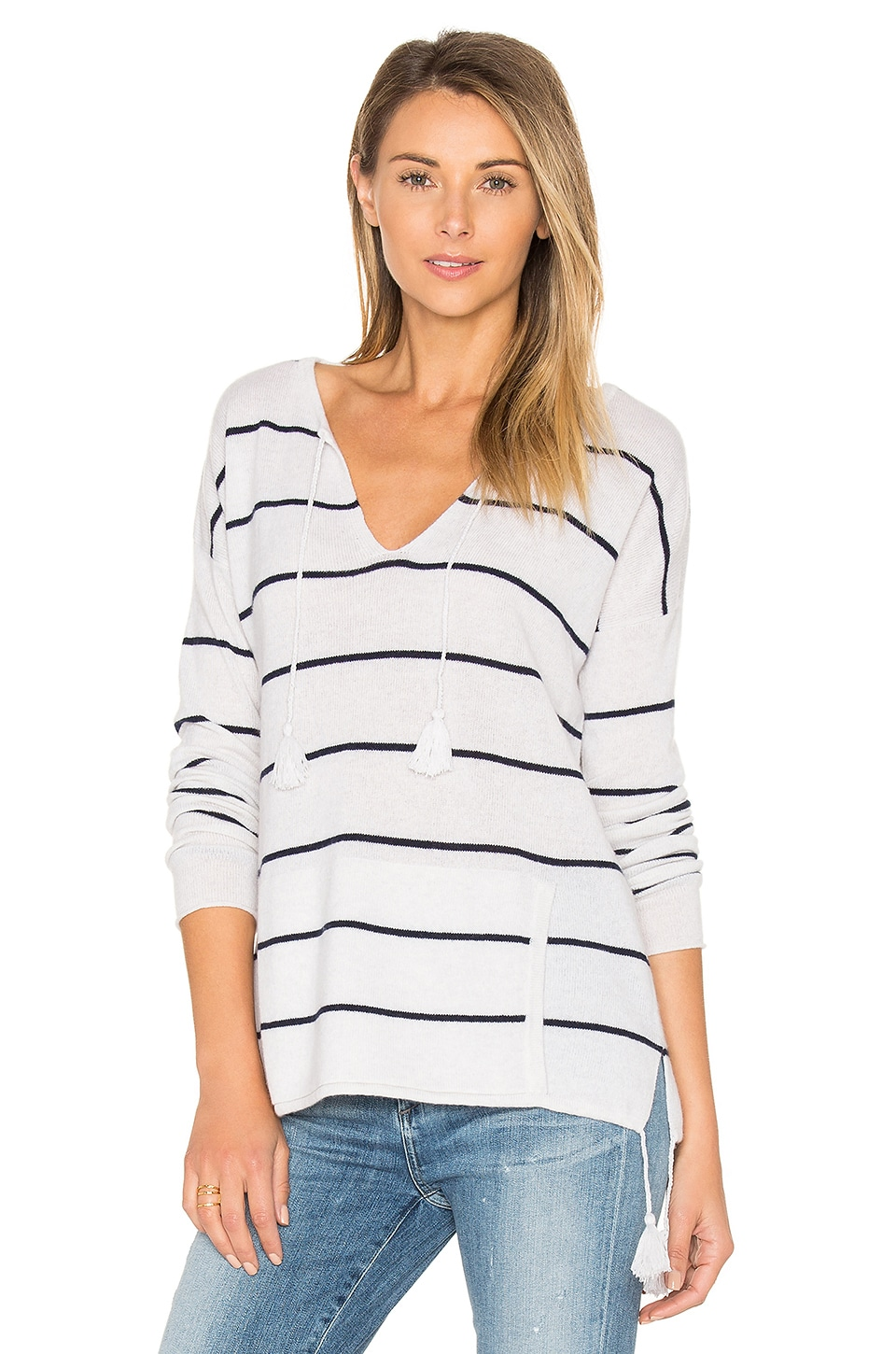 Tassel Striped Baja Sweater