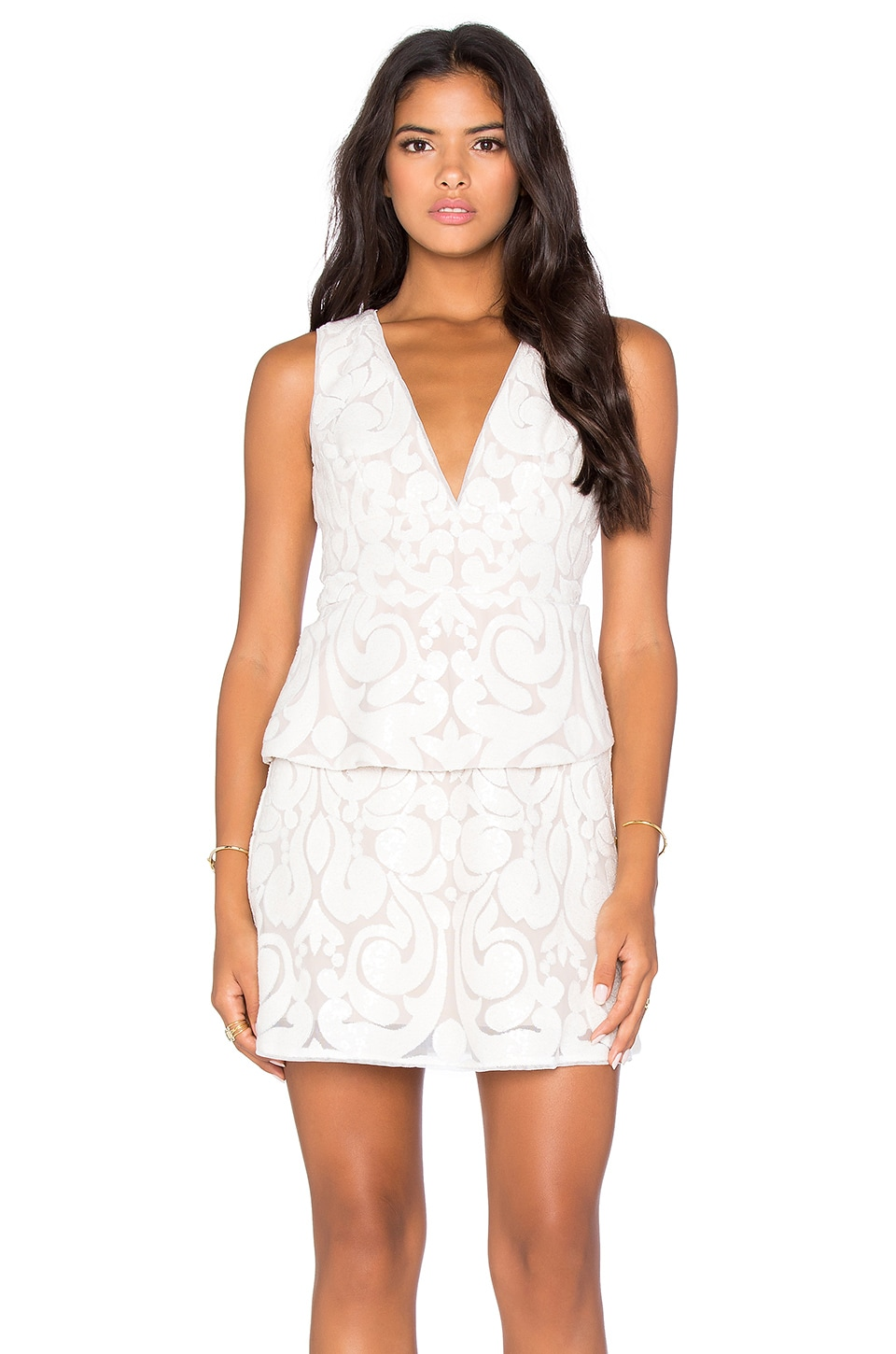 Plunge Neck Mini Dress